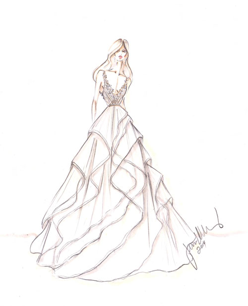 Turmec » how to draw a ball gown dress
