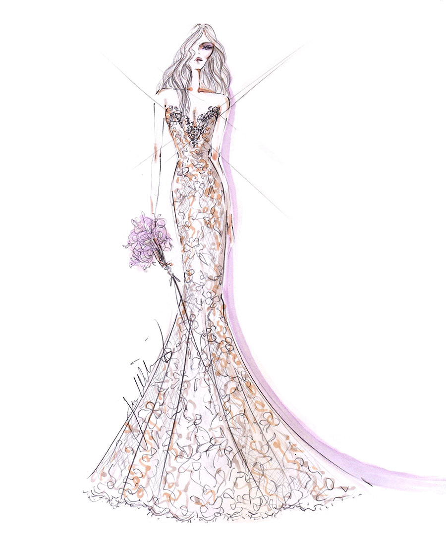 Corset Wedding Dress Sketches Images