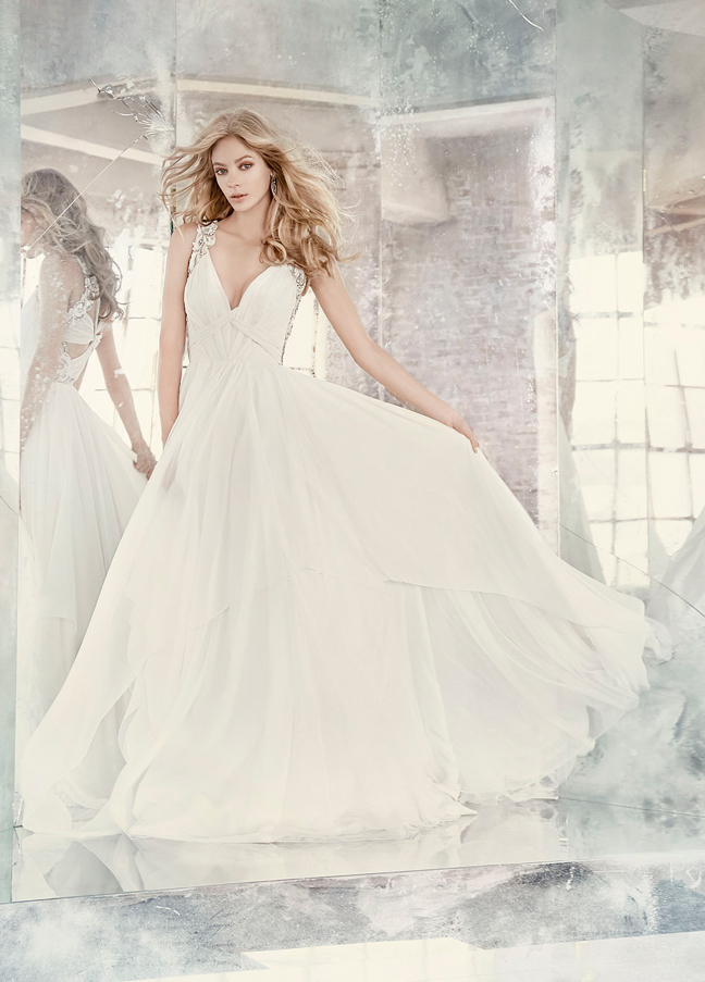 Hayley Paige Bridal Gowns, Wedding Dresses Style HP6605 by JLM Couture, Inc.