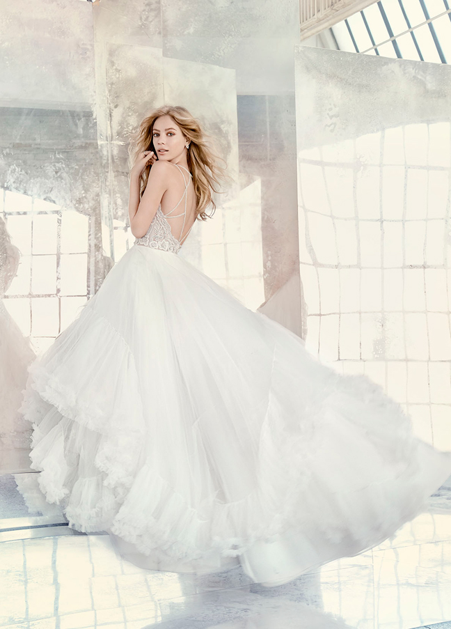 Hayley Paige Bridal Gowns, Wedding Dresses Style HP6613 by JLM Couture, Inc.