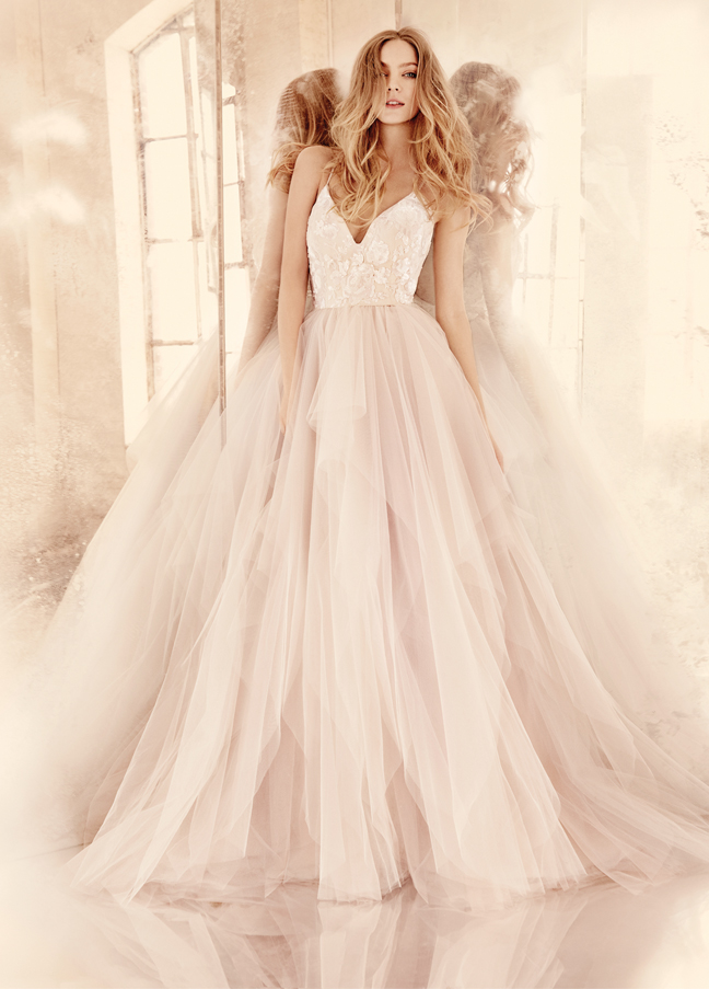 Bridal gowns wedding dresses by hayley paige style hp6560 for Hayley paige wedding dress