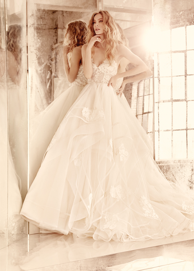 Bridal gowns wedding dresses by hayley paige style hp6552 for Hayley paige wedding dress prices