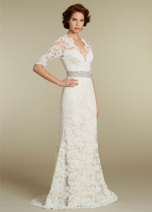 Lace sleeve wedding dress handese fermanda lace sleeve wedding dress junglespirit Images