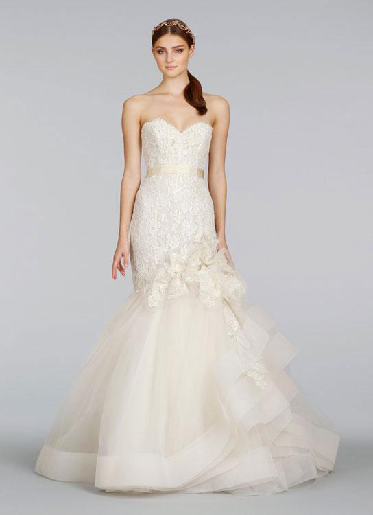 Bridal gowns wedding dresses by lazaro style lz3415 for Lazaro wedding dress price range