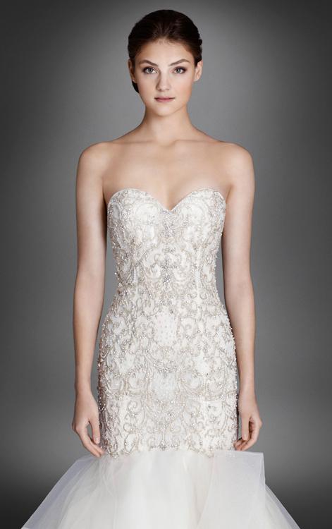 Detail view for Lazaro wedding dress price range