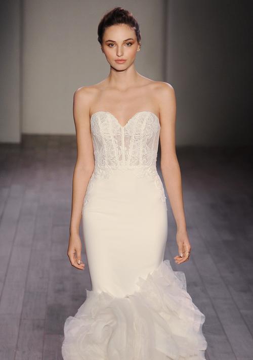 Bridal gowns wedding dresses by lazaro style lz3610 for Lazaro wedding dress price range