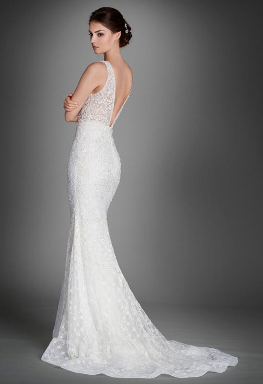 Bridal gowns wedding dresses by lazaro style lz3558 for Lazaro wedding dress price range