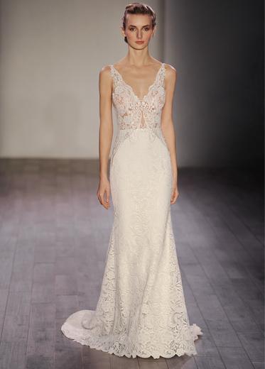 Bridal gowns wedding dresses by lazaro style lz3609 for Lazaro wedding dress price range