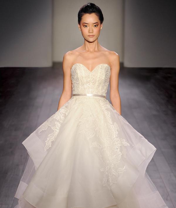 Bridal gowns wedding dresses by lazaro style lz3601 for Lazaro wedding dress price range