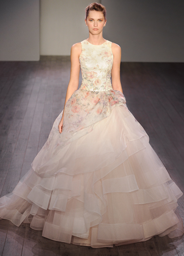 Bridal gowns wedding dresses by lazaro style lz3613 for Lazaro wedding dress price range