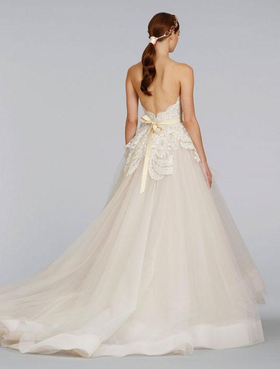 Bridal gowns wedding dresses by lazaro style lz3413 for Lazaro wedding dress price range