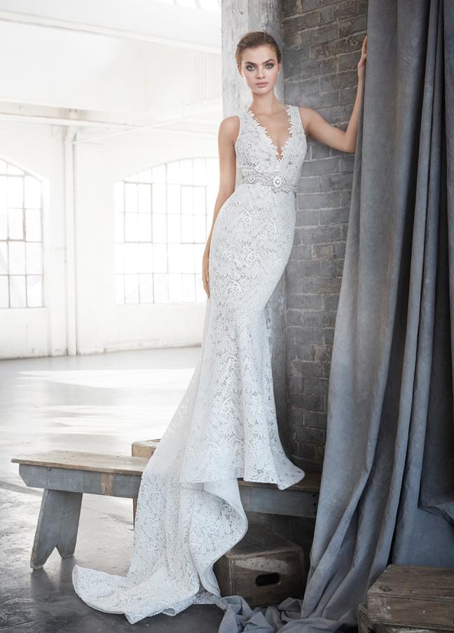 Bridal gowns wedding dresses by lazaro style lz3611 for Lazaro wedding dress price range