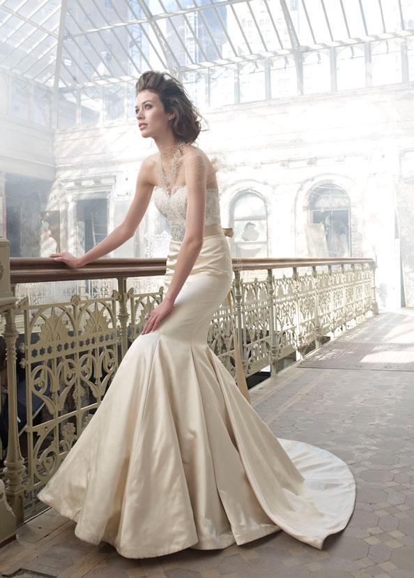 Bridal gowns wedding dresses by lazaro style lz3207 for Lazaro wedding dress price range