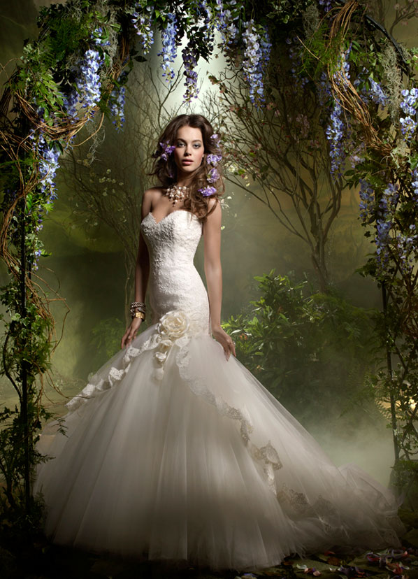 Lazaro Bridal Gowns, Wedding Dresses Style LZ3955 by JLM Couture, Inc.